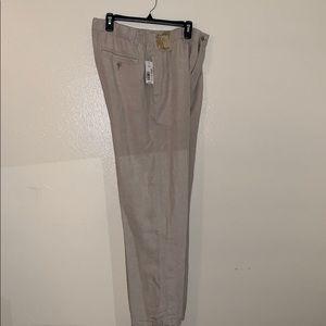Caribbean Linen Pants Stretch 38 30 NWT Tan Beige